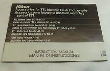 Nikon SC-19 SC-17 for TTL Multiple Flash Photography Manual Guide English Espano