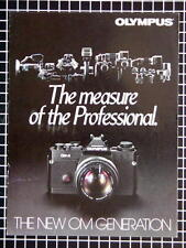 OLYMPUS OM-3 OM-4 BOOKLET 215mm x 280mm (8.5''x 11'') 6 pages 08/1983