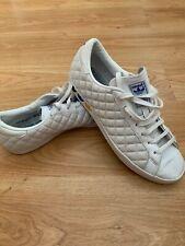 Vintage Adidas Originals White Quilted Trefoil Trainers 2010 UK 9 US 9.5 43 1/3