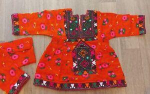 Eid collection kids girls pakisatni shalwar kameez afghani pathani