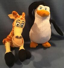 Fisher Price Madagascar Melman Giraffe & Skipper Penguin Plush Stuffed Animal 8""