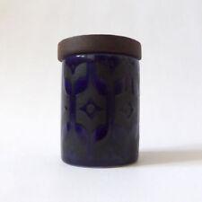 Blue Hornsea Pottery Tableware Jars