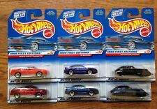 HOT WHEELS 1999 First Edition Variation Lot Monte Carlo 99 Mustang 38 Corsair x6