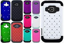 ZTE Concord II 2 Z730 HYBRID IMPACT Dazzling Diamond Layered Case Phone Cover