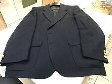 Men's navy blue jacket blazer coat dress size 42 regular casual sport custom