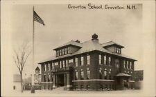 Groveton NH School c1910 Real Photo Postcard