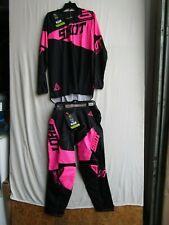 Men's motocross SHOT INFINITE combo,pants 32, jersey XL EXTRA LARGE, blk/pink