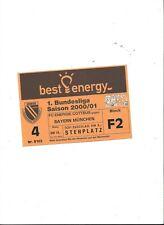 Sammler Ticket: FC ENERGIE COTTBUS - FC BAYERN MÜNCHEN 14.10.2000, unbenutzt