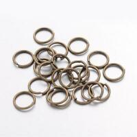 100 x 10mm Antique bronze color jump rings Brass jump single ring loop jumpring