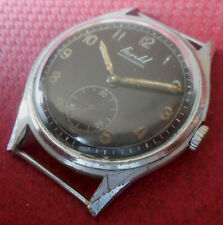 Vintage 1940s Oversized HEROLD 15 Jewels Military Swiss Made Running Wristwatch