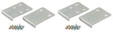 x4 KITCHEN HINGE REPAIR KIT Plate Cupboard Door Cabinet Pair + Screws - Silver