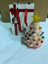 Mr. Christmas Set of 4 Mini Nostalgic Tree Ornaments w/ Gift Bags PINK New J3