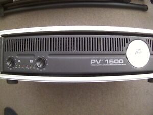 Peavey PV 1500 Watt Power Amplifier  & Case