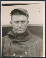 1914 HUB PERDUE Boston Braves Portrait Double Weight Vintage Photo