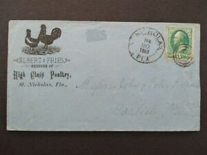 Florida: St. Nicholas 1883 Fries Poultry Chicken Illustrated Advertising Cover