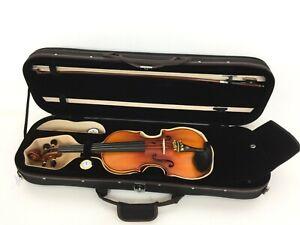 Handmade Symphony 3/4 Solid Wood Violin Pack w/Deluxe Case, Ebony Pegs SJV 01AA