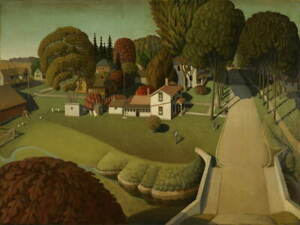 Grant Wood Birthplace of Herbert Hoover Canvas Print Giclee Canvas Print