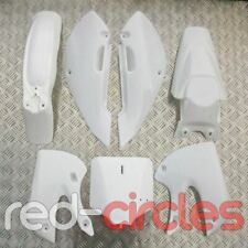 WHITE KLX 110 KLX110 PIT BIKE FAIRING PLASTICS, MUDGUARD & NUMBER BOARD