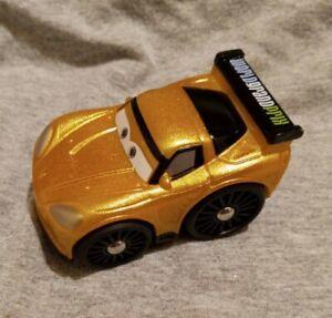 Disney Pixar Cars Little People Wheelies Jeff Gorvette Gold Vehicle