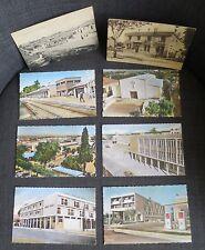 ORLEANSVILLE (Algérie) ensemble de 8 cartes postales poste pompes essence hotel
