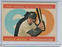 Roger Maris 1960 Topps Baseball Card #565 Nr. Mint/Mint
