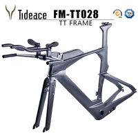 2020 Di2 Carbon Triathlon&Time Trial&TT Bike Frame&Fork TT Carbon Frameset 51cm