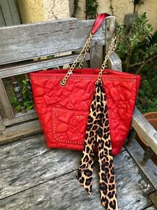 BETSEY JOHNSON AFIRE / HEARTS TOTE / NWT / RED CLEARANCE SALE!
