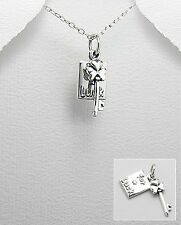 "925 sterling silver ""FOR LUCK"" Pendant Charm"