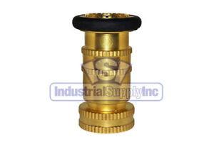 "Fire Hose Nozzle | With Bumper | 1-1/2"" National Pipe Thread (NPT) 