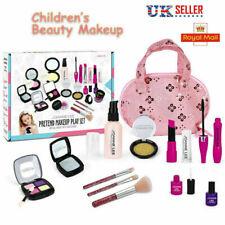 Girls Pretend Makeup Set Princess Pink Cosmetic Beauty Travel Bag Kit Gifts Toys