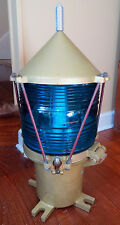 UNITED STATES COAST GUARD BLUE BUOY LIGHT LAMP - USCG -  MARITIME - RARE