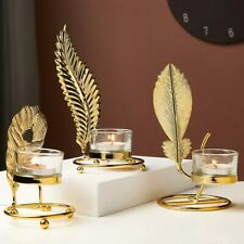 Iron Candle Glass Holders Party Wedding Decorations Candle Gold Candlesticks