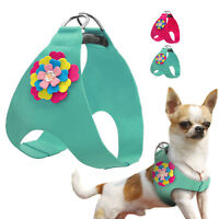 Soft Suede Leather Pet Dog Harness Step-in Vest for Small Medium Dogs Chihuahua