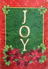 Joy Christmas Garden Flag by Evergreen, Colorfast and Durable, #4558
