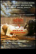 A NIGHTMARE ON ELM STREET 3: DREAM WARRIORS Movie POSTER 27x40 UK B Patricia