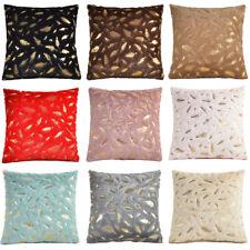Cushion Cover Golden Leaf Pattern Super Soft Pillow Case Home Bedroom Sofa Decor