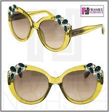89ef8fbc6c73 Jimmy Choo Megan Translucent Lemon Green Cedar Mirrored Round Sunglasses  Megan s