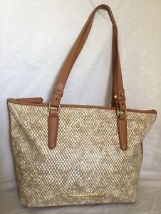Large BRAHMIN All Leather Tote/Shoulder Bag / Handbag