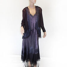 NEW NWT Komarov Woman Nordstrom Plus Beaded Brown Pleated Gown Wrap Set 3X