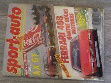 $$$ Revue Sport auto N°310 Ferrari 408Mercedes 4-maticAX GTPorsche 962