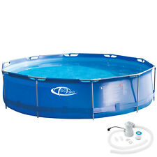 Piscina desmontable redonda + depuradora Swimming Pool Tubular Jardin Ø 3,6 m