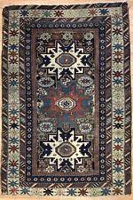 Selective Shirvan - 1880s Antique Lesghi Star - Quba Caucasian Rug - 3.3 x 4.9