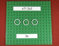 Gummiringe für LEGO Technik ( x71) Rubber Belt Small (2X2)-Weiß - 3 Stück