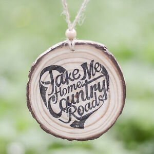 Country Music Road Trip Natural Rustic Wood Decoration or Magnet Home Car Gift