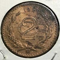 MEXICO 1927 TWO CENTAVOS BETTER GRADE COIN