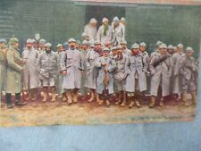 Wwi German Army Post Card Colorized French Pows Guard with Pickelhaube Ww1