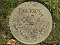 Stepping stone (black bird A) garden ornament | 57 other designs in my shop!