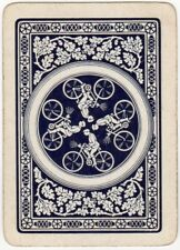 Playing Card 1 Swap Card Old Antique Wide BICYCLE TYRE Man Riding Bike Cycling 2