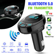 Bluetooth In-Car Wireless Adapter FM Transmitter Car Kit 2 USB + Type-C Charger