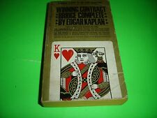 WINNING CONTRACT BRIDGE COMPLETE BY EDGAR KAPLAN Paperback 1968